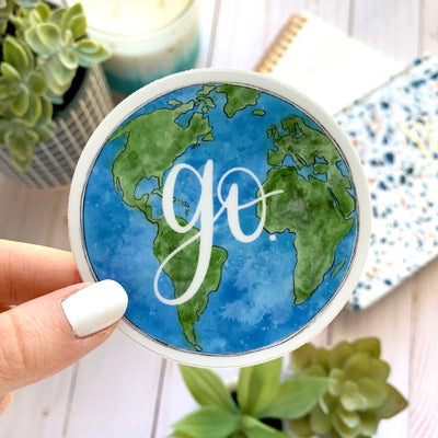 Go Globe Sticker