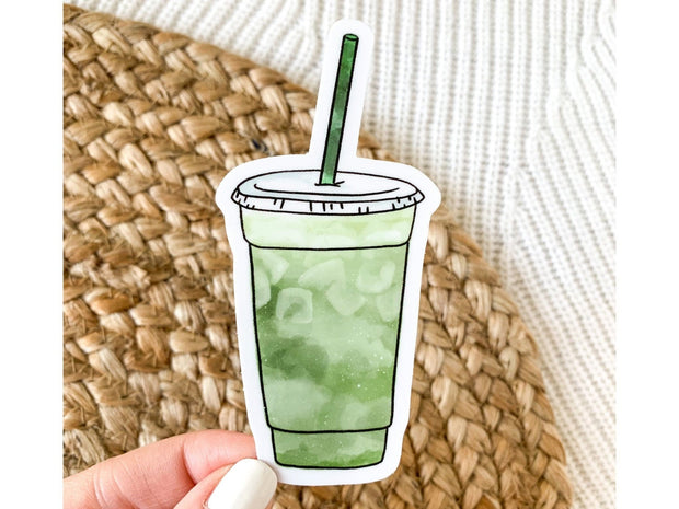 Matcha Green Tea Latte Sticker