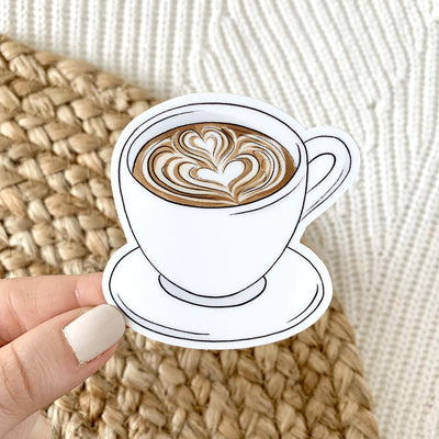 Latte Art Sticker