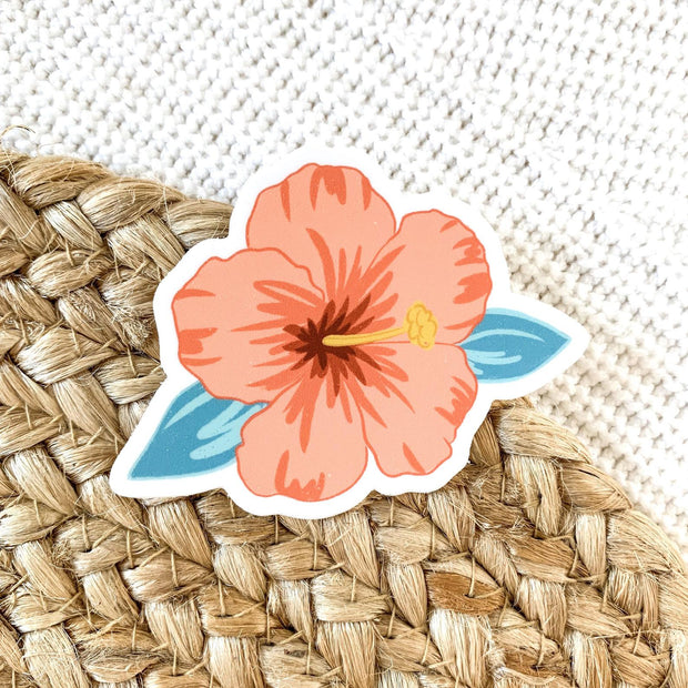 Hibiscus Flower Sticker