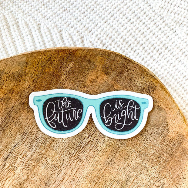 The Future is Bright Sunglasses Sticker
