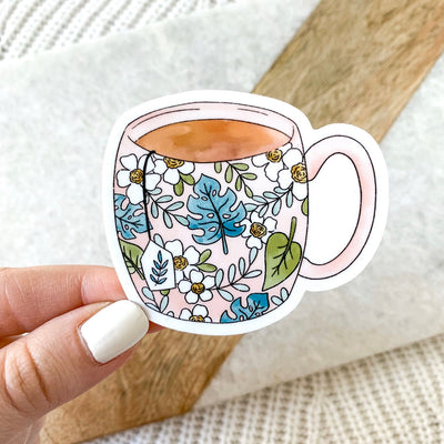 Tropical Pink Teacup Sticker
