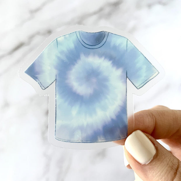 Clear Blue Tie Dye T-Shirt Sticker