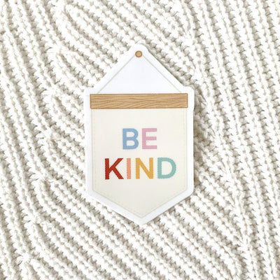 Be Kind Banner Sticker