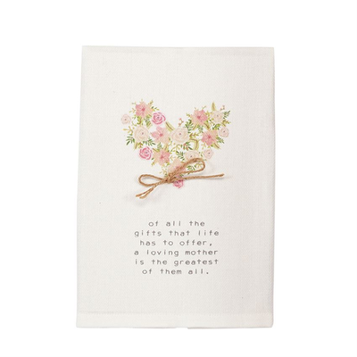 Mom Heart Floral Towel