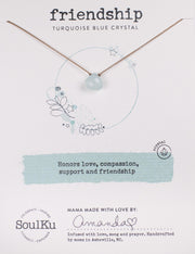 Soulku Blue Crystal Necklace for Friendship