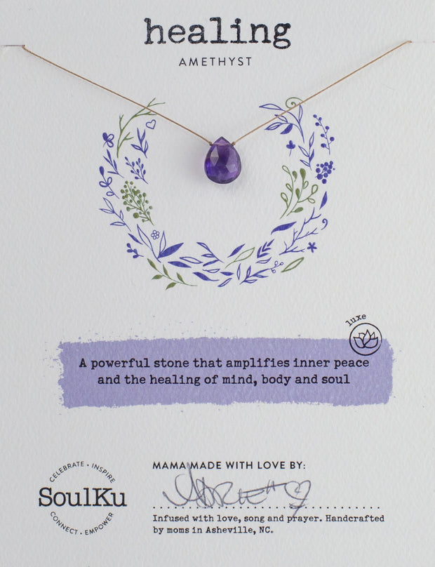 Soulku Amethyst Luxe Necklace for Healing