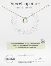 Soulku Green Amethyst Luxe Necklace Heart Opener
