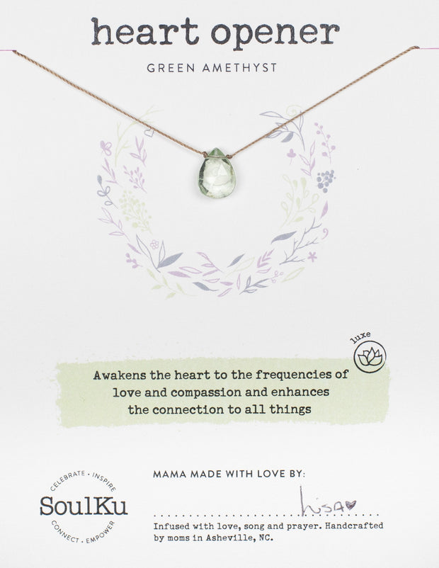 Soulku Green Amethyst Luxe Necklace for Opening your Heart