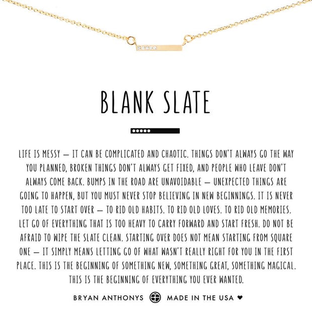 Blank Slate Necklace