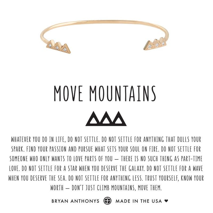 Move Mountains Cuff