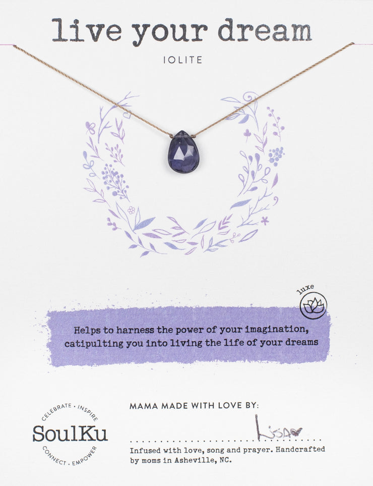 Soulku Iolite Luxe Necklace for Live Your Dream