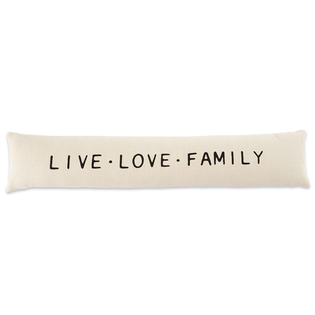 Live Love Family Long Pillow