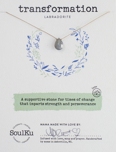 Soulku Labradorite Luxe Necklace for Transformation