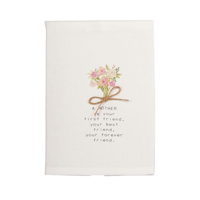Mom Bouquet Floral Towel