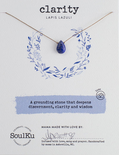 Soulku Lapis Lazuli Luxe Necklace for Clarity