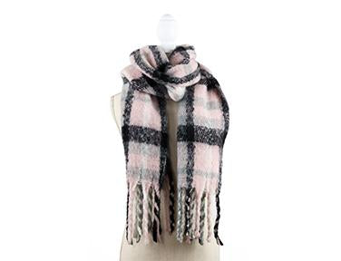 Plaid Fringe Scarf