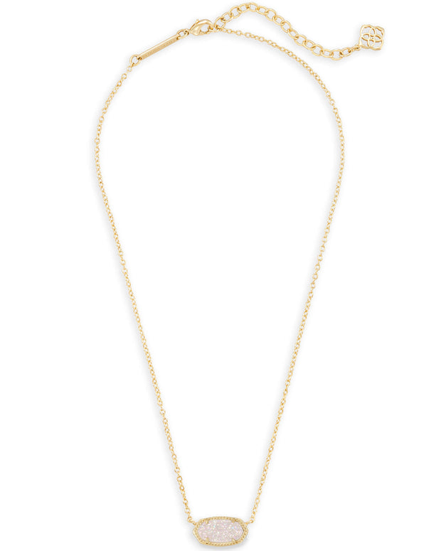 Kendra Scott Elisa Gold Pendant Necklace in Iridescent Drusy