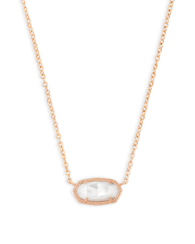 Kendra Scott Elisa Rose Gold Pendant Necklace in Ivory Pearl