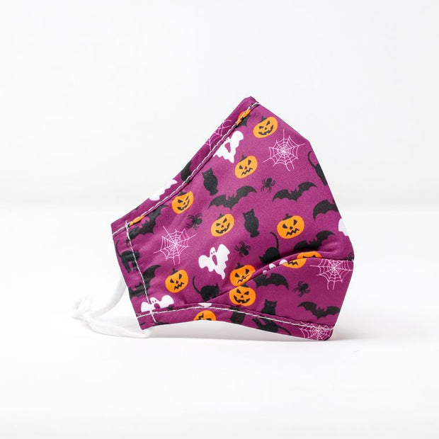 Kids Purple Pumpkin Halloween Mask