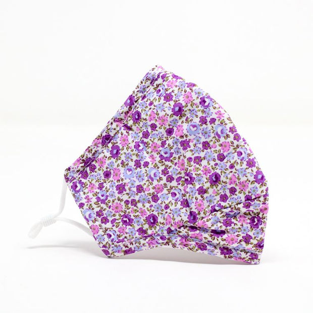 Purple Floral Adjustable Mask