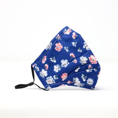 Blue Floral Adjustable Mask