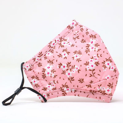Light Pink Floral Adjustable Mask