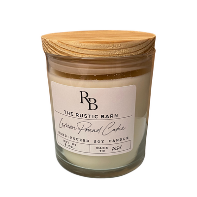 Lemon Pound Cake Rustic Barn 80z Candle