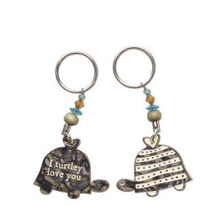 Natural Life Turtle Turtley Love Token Keychain