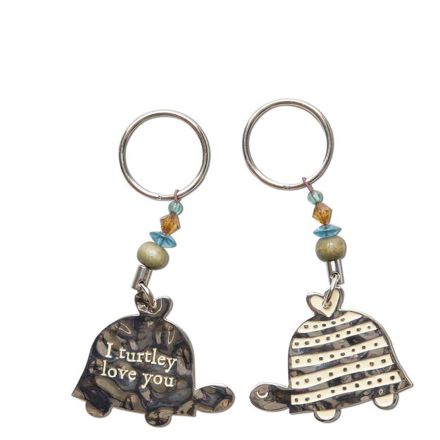 Turtle Turtley Love Token Keychain