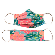 Handmade Lilly Pulitzer  Fabric Pleated Mask