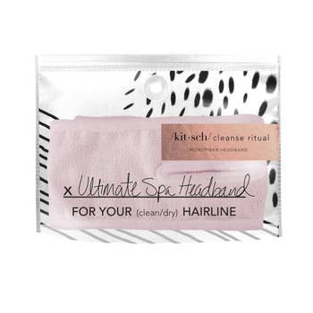 Blush Microfiber Spa Headband