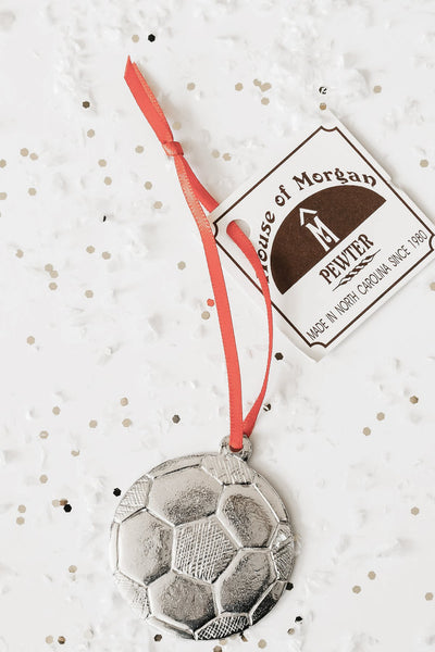 Handmade Soccer Ball Christmas Ornament