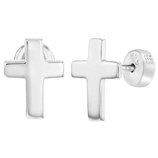 Religious Plain Cross Earrings