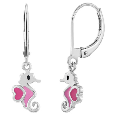 Pink Seahorse Earrings