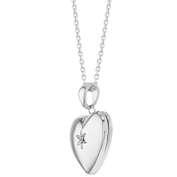 Star Heart Locket Necklace