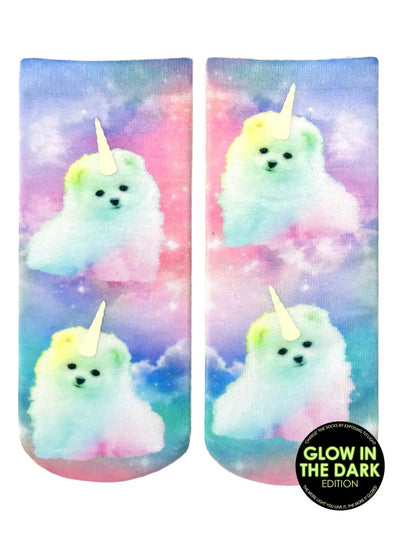 Unicorn Puppy Ankle Socks