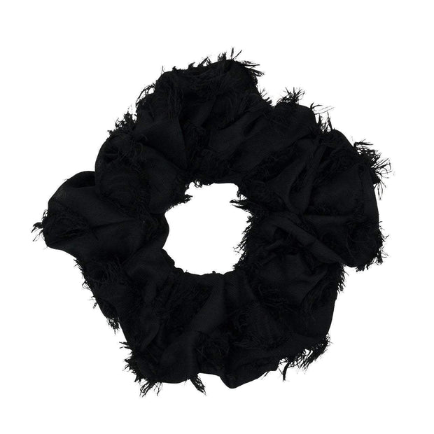 Frayed Black Brunch Scrunchie