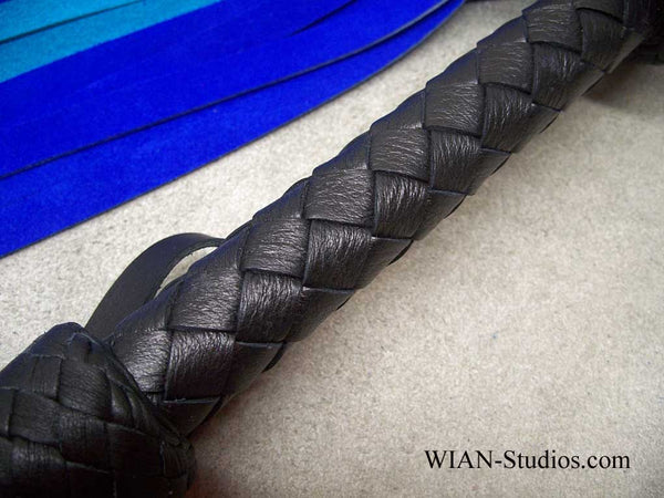 Royal Blue, Turquoise and Purple Chap Suede Flogger