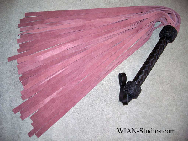 Rose Pink Chap Suede Flogger