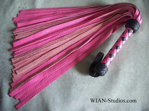 Pink Cowhide Flogger