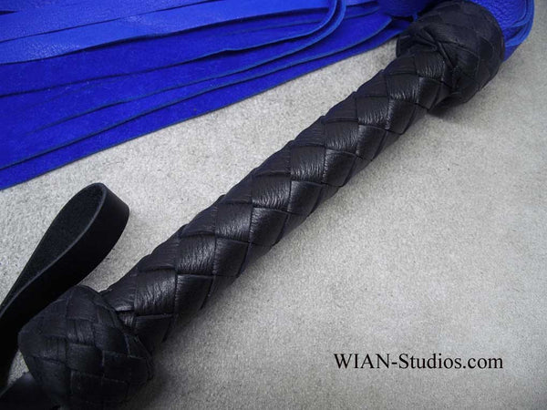 Blue Deer Hide Flogger, Heavier Hide