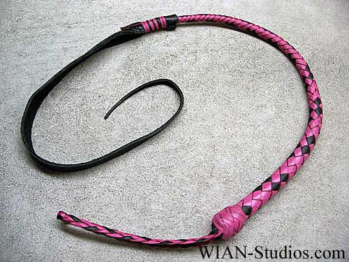 Dragon Quirt or Serpent's Kiss, Pink with Black accents