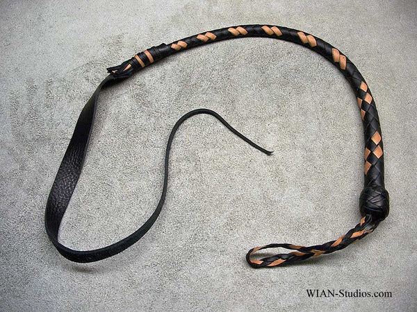 Dragon Quirt or Serpent's Kiss, Black with Tan accents