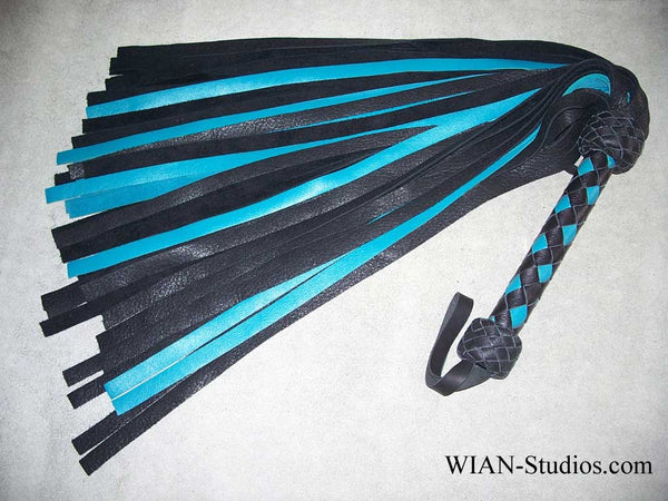 Black Elk and Turquoise Cowhide Flogger