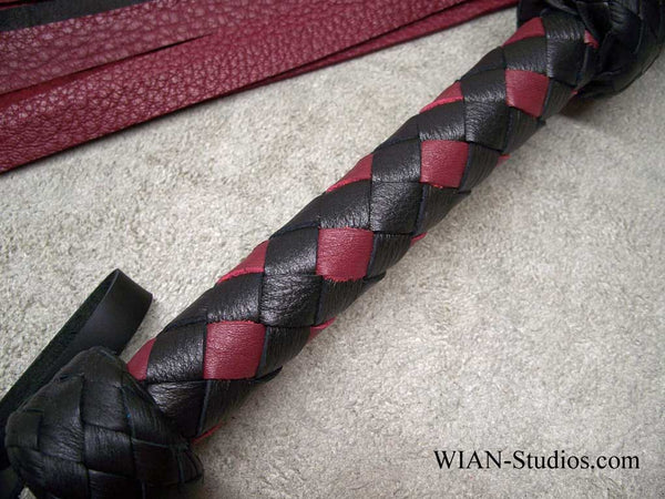 Wine Red and Black Elk Flogger
