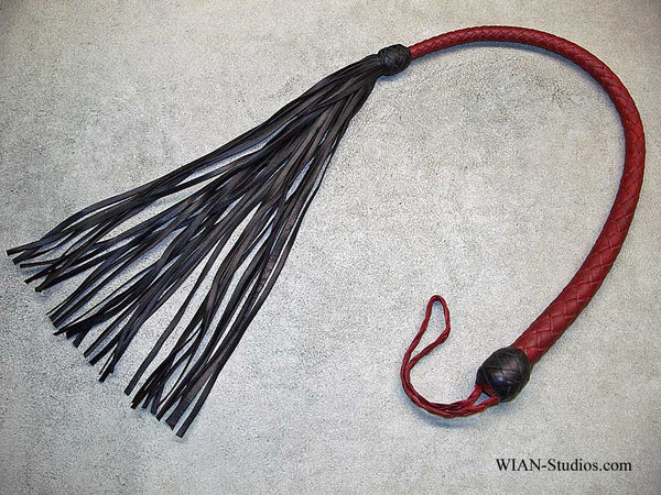 Galley Whip, Red with Black Tips