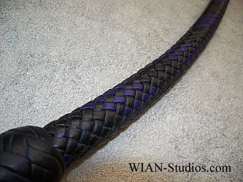 Signal Whip, Black with Purple accents, 4'