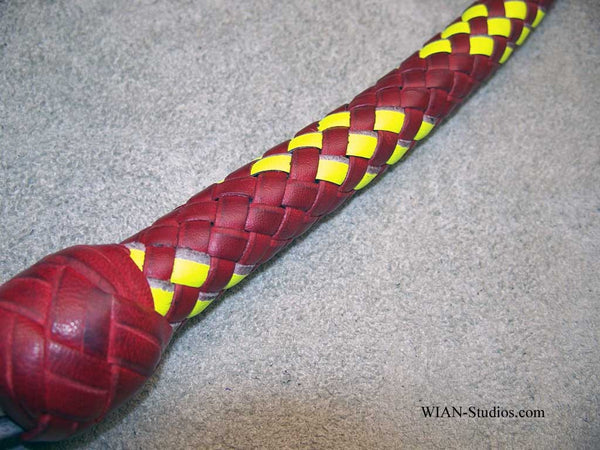 Signal Whip, Red with Yellow accents