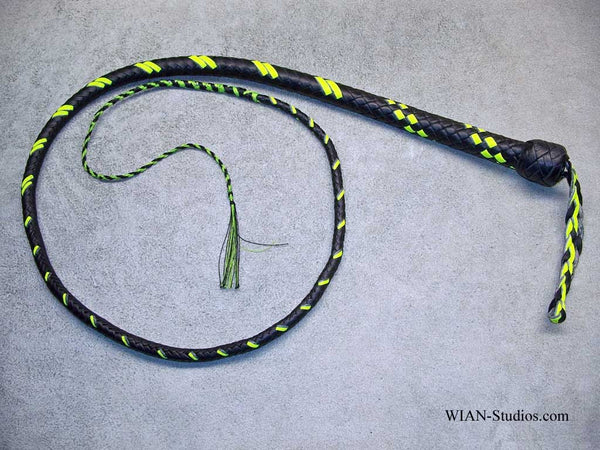 Signal Whip, Black with Yellow accents, 4'